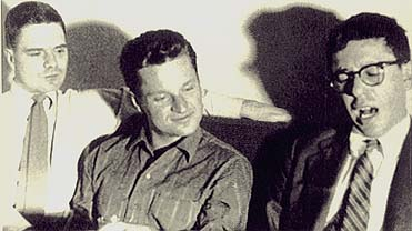 left to right: James Schuyler, John Ashbery, Kenneth Koch, August 1956