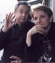 John Tranter and Pam Brown, Berlin, 2001