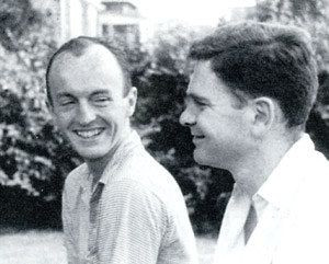 L to R: Frank O'Hara and James Schuyler in 1956