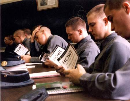 Cadets reading Howl