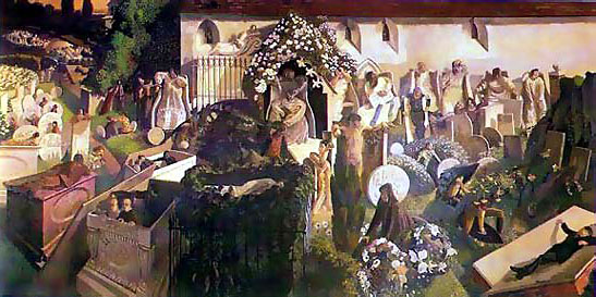The Resurrection, Cookham, by Stanley Spencer