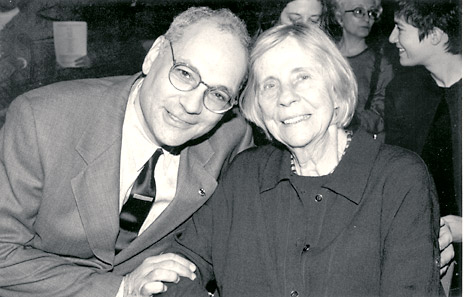 Charles Bernstein, Barbara Guest, photo by Star Black, 1999