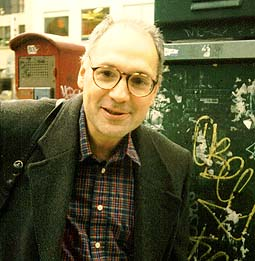 Charles Bernstein, New York City, November 1997, photo by John Tranter