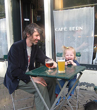 Cralan Kelder with his daughter Crash