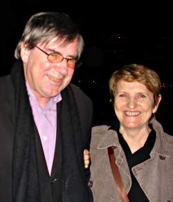 Wystan Curnow with Pam Brown, Sydney Harbour, photo by John Tranter
