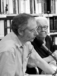 Peter Robinson, left, with Luciano Erba, June 2007